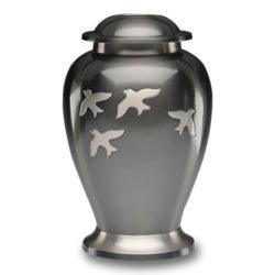 Avondale Urn with Birds in Flight in Beautiful Slate – Adult – B-1610-A
