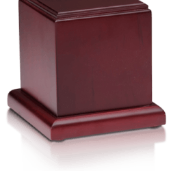 Birch Wood Cube Cremation Urn with Cherry Finish – Large – HB-107-CHERRY