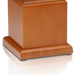 Birch Wood Cube Cremation Urn with Honey Finish - Medium - HB-106-HONEY