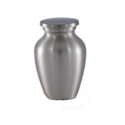 Classic Brass Cremation Urn in Pewter Finish – Keepsake – B-1511-K-P