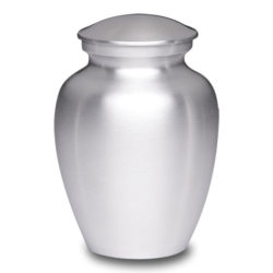 Affordable Alloy Cremation Urn Silver Color – Adult – AU-CLB-A