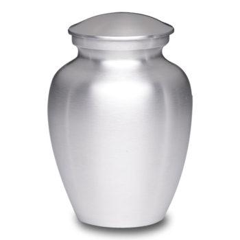 Affordable Alloy Cremation Urn Silver Color – Medium – AU-CLB-M