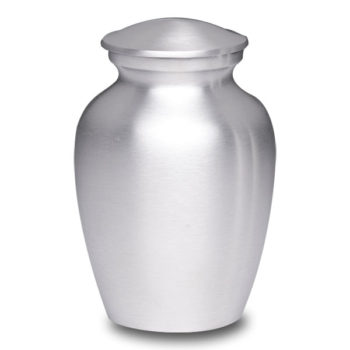Affordable Alloy Cremation Urn Silver Color – Small – AU-CLB-S