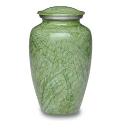 Affordable Alloy Cremation Urn in Beautiful Green – Adult – A-1410-A