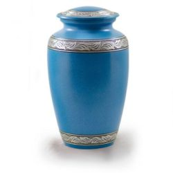 Affordable Alloy Cremation Urn in Beautiful Turquoise – Adult – A-1489-A-TUR