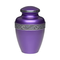 Affordable Alloy Cremation Urn in Purple – Adult – A-2249-A