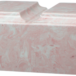 Tuscany Double Cultured Marble Urn Pink - Adult - CM-T-DBL-PINK-A
