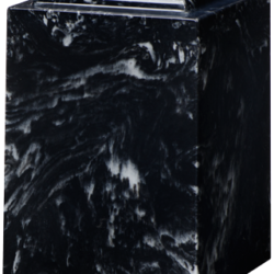 Windsor Cultured Marble Adult Urn Black Marlin - Adult - CM-W-BLACK-MARLIN-A