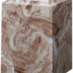 Windsor Cultured Marble Adult Urn Cafe Brown - Adult - CM-W-CAFE-BROWN-A
