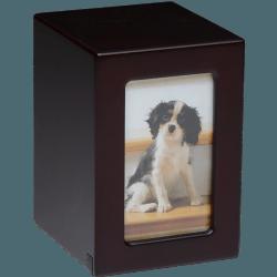 Affordable Dark Cherry Photo Frame Pet Urn