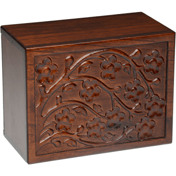 Cherry Blossom Wooden Urn Box (Large Size)