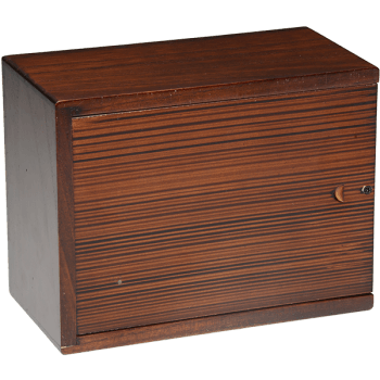 Cherry Blossom Wooden Urn Box (Large Size) Back View