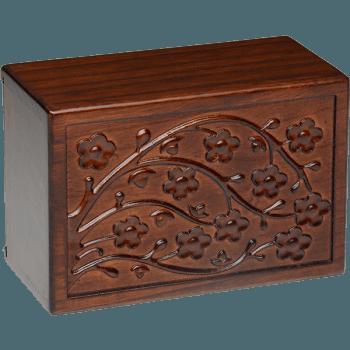 Cherry Blossom Wooden Urn Box (Medium Size)