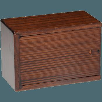 Cherry Blossom Wooden Urn Box (Medium Size) Back View