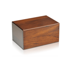Economy Oriental Plane Wooden Urn Box (Extra Small Size)