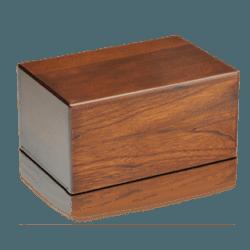 Economy Oriental Plane Wooden Urn Box (Medium Size)