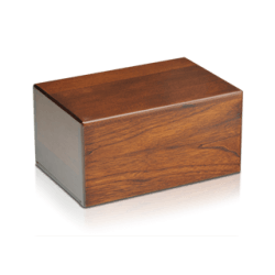 Economy Oriental Plane Wooden Urn Box (Small Size)