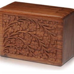 Rosewood Urn with Hand-Carved Tree of Life (Extra Large Size)