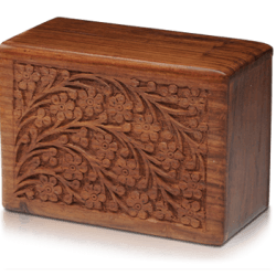 Rosewood Urn with Hand-Carved Tree of Life (Large Size)