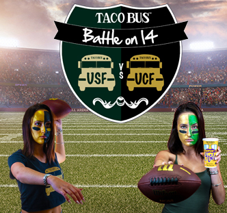 "Taco Bus Offers ""Win and Win"" Promotion to USF or UCF Fans and Students"