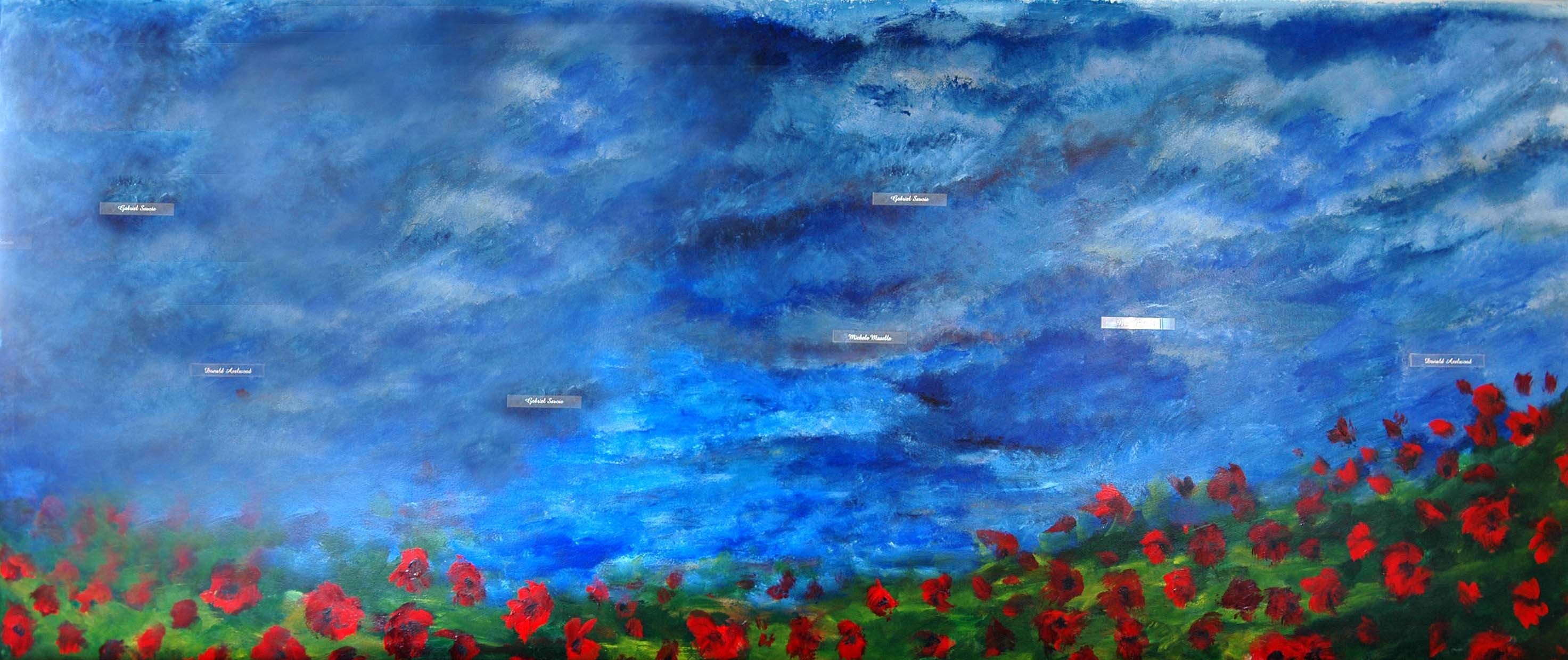 Wall - Dark blue panel - December 2011