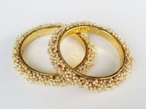 Pearl Cluster Bangles (Pair)