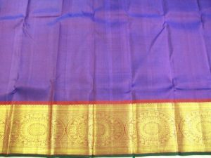 Jewel Purple Chakaram Pure Kanchipuram Silk Saree