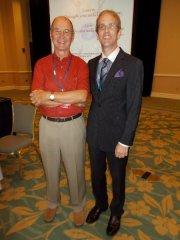 David Kolb and Joseph Sawyer following the opening plenary