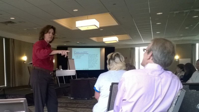 Toni Halleen, JD, presenting the Wednesday, August 6 Plenary Session: Think on the Spot: Effectiveness Under Pressure.