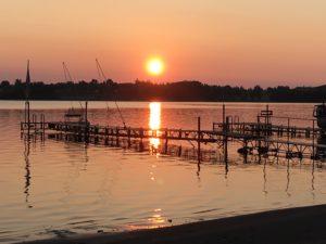 Sunset at my lake in North Dakota
