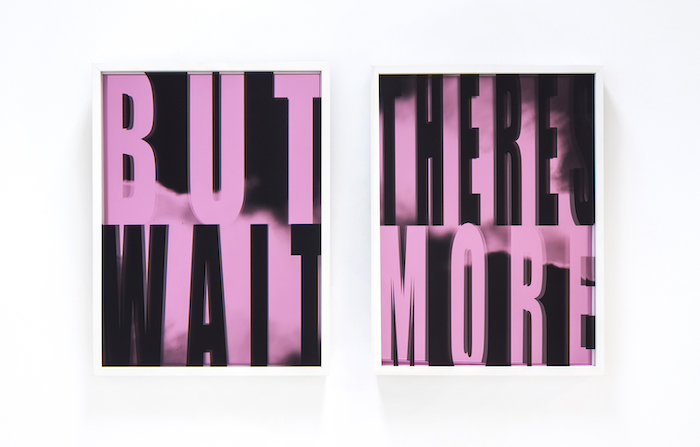 Kristin Bauer, BUT WAIT/THERE'S MORE, 2019, UV ink, cast acrylic, mirrored plexi, 18 x 24 in