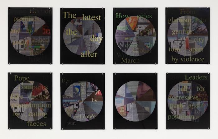 Jody Zellen, News Cycle, 2017, Suite of 8 Lenticular Photographs, 14 X 11 in