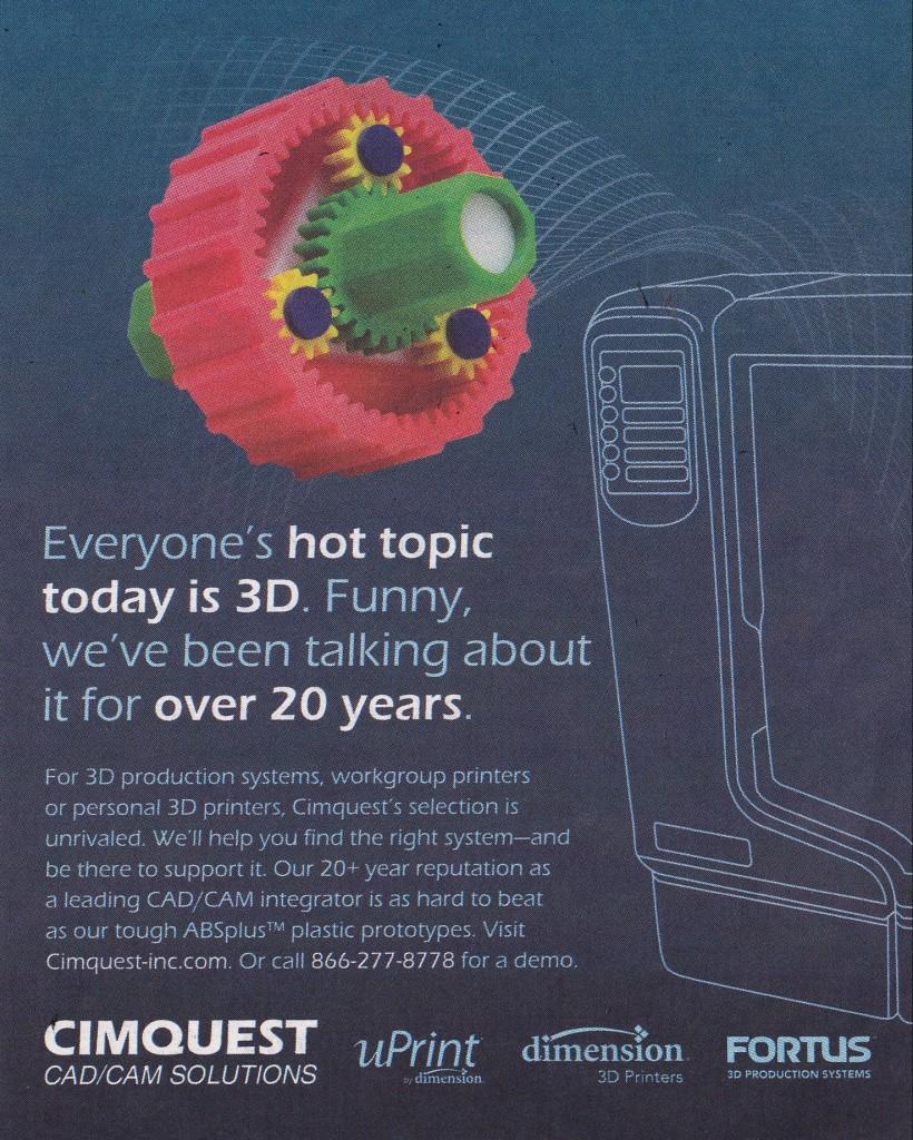 Cimquest Sprocket Ad