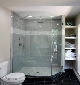 Support bar shower
