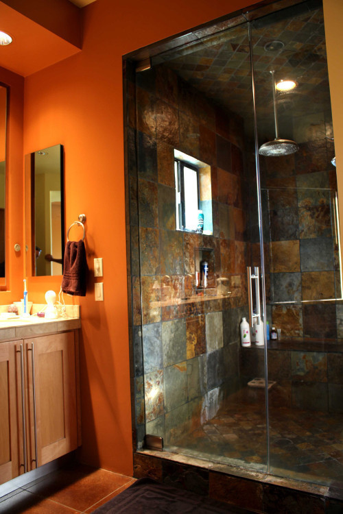 Half inch steam shower door Scottsdale