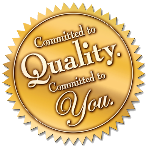Quality committed logo