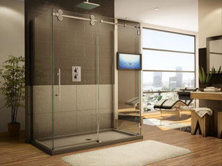 Frameless shower door