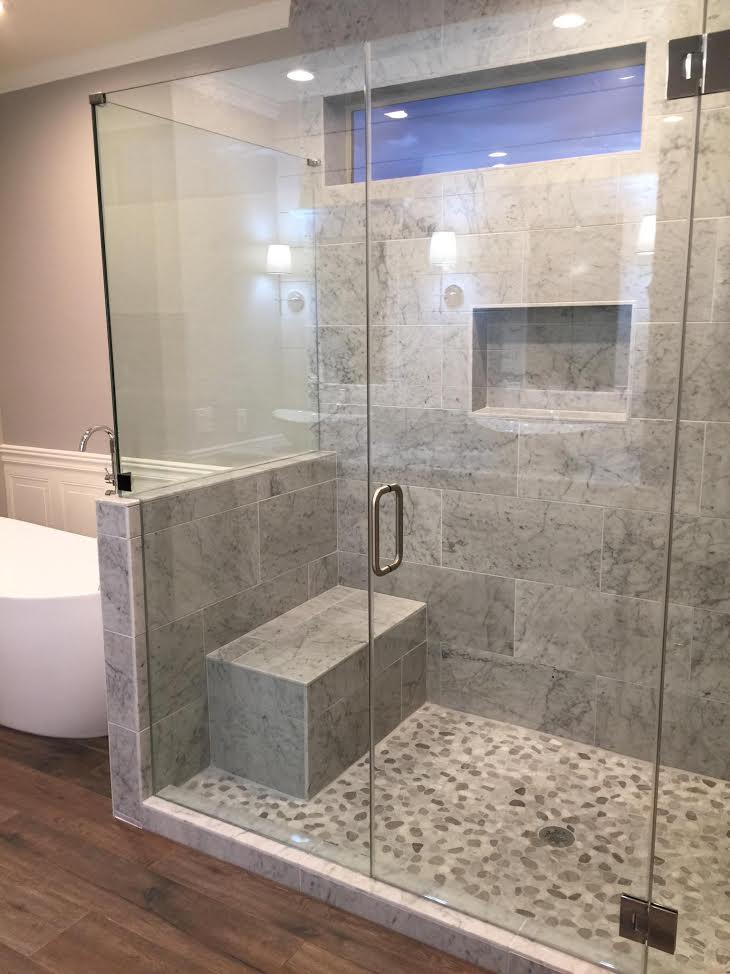 Glass to Glass hinges frameless shower
