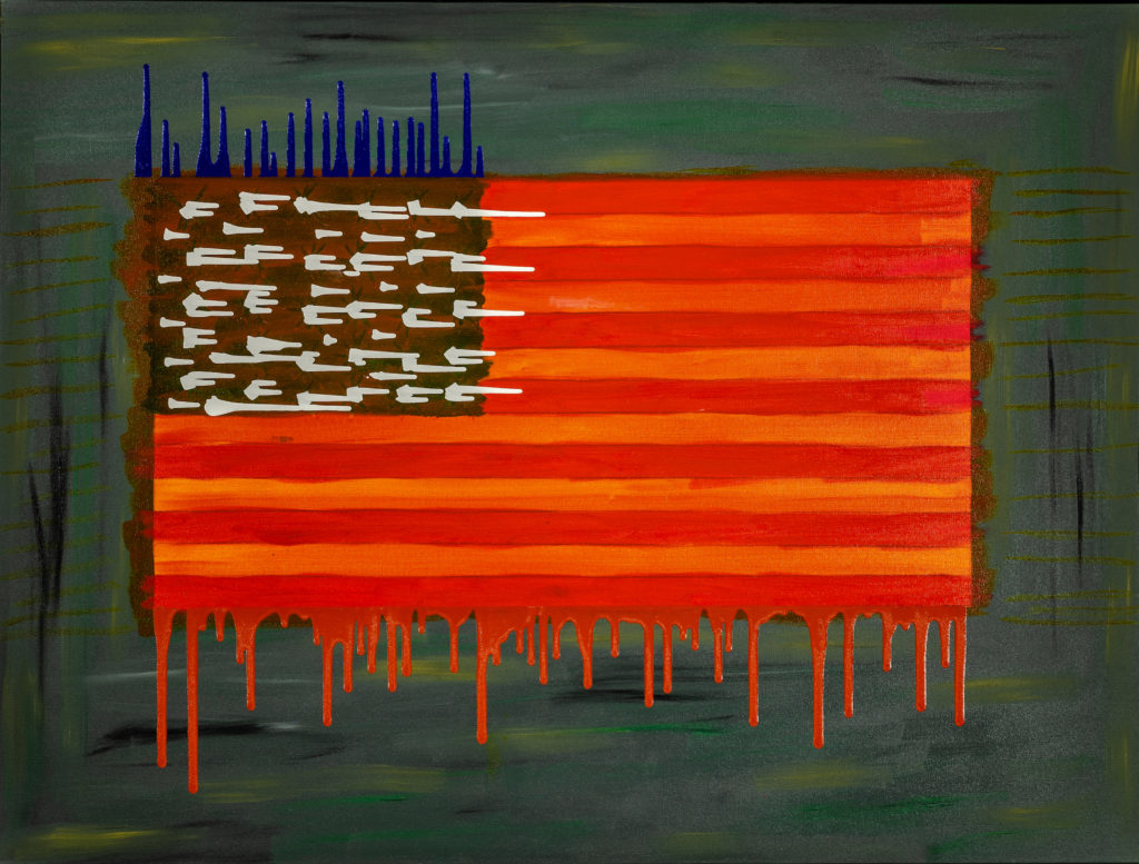 When America Weeps - Oil on Canvas