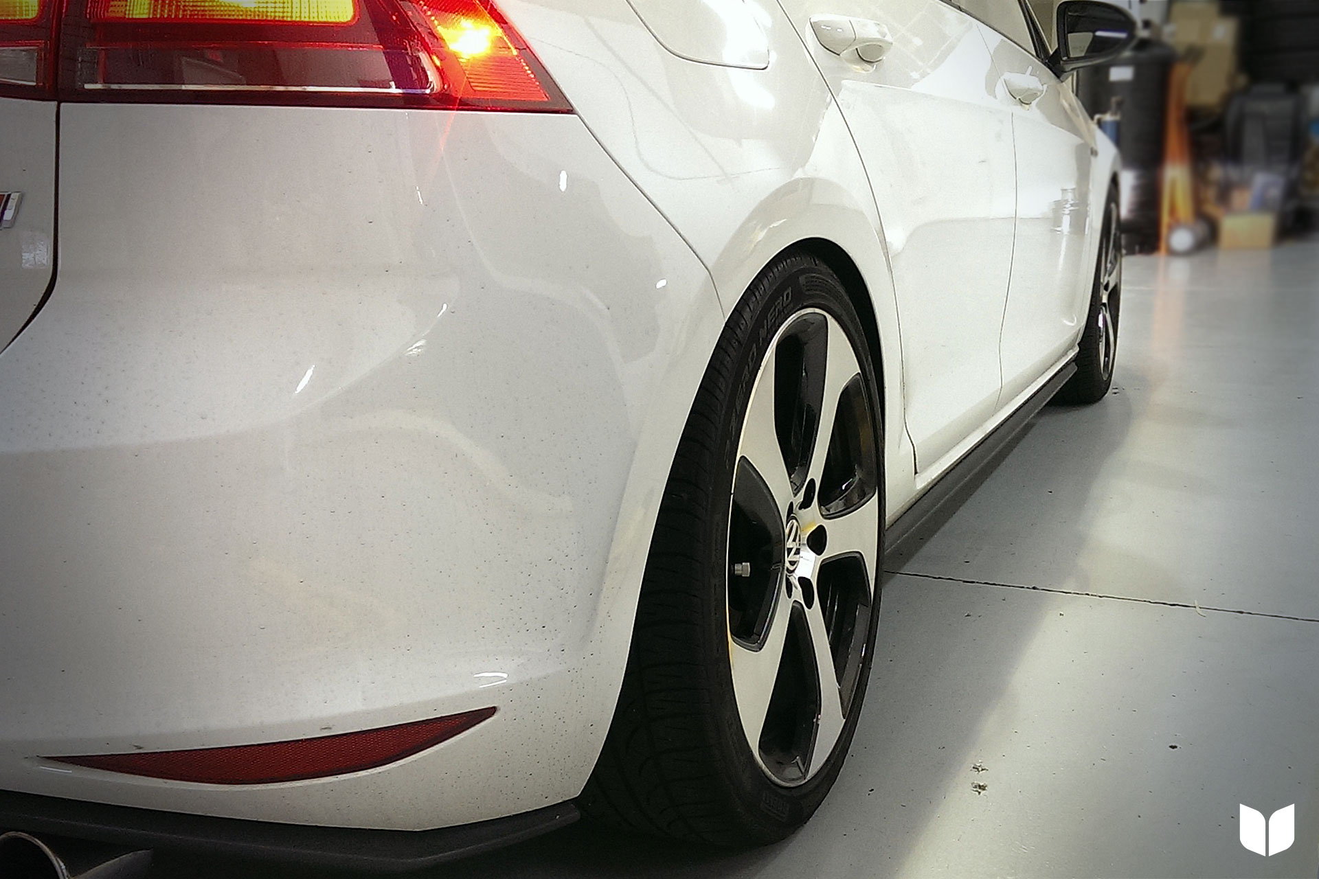 The Wider Stance Provided by the ECS Tuning GTI Flush Wheel Spacer Kit