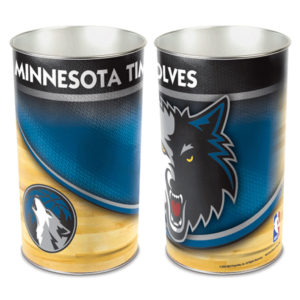 Tapered Wastebasket - Minnesota Timberwolves
