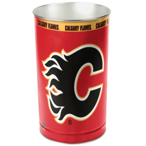 Tapered Wastebasket - Calgary Flames