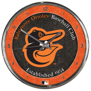 Chrome Clock - Baltimore Orioles