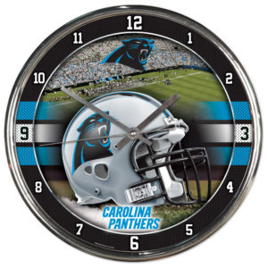 Chrome Clock - Carolina Panthers