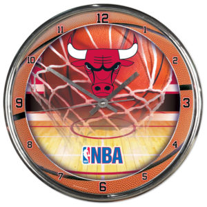 Chrome Clock - Chicago Bulls