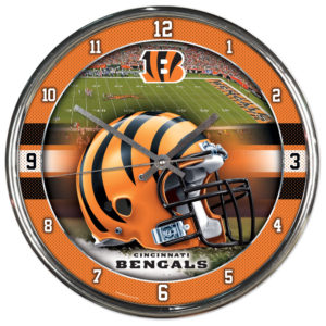 Chrome Clock - Cincinnati Bengals