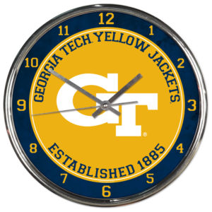 Chrome Clock - Georgia Tech Yellow Jackets
