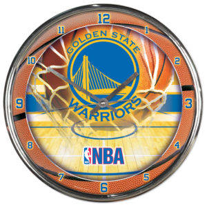 Chrome Clock - Golden State Warriors