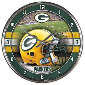 Chrome Clock - Green Bay Packers