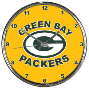 Chrome Clock - Green Bay Packers (all yellow)